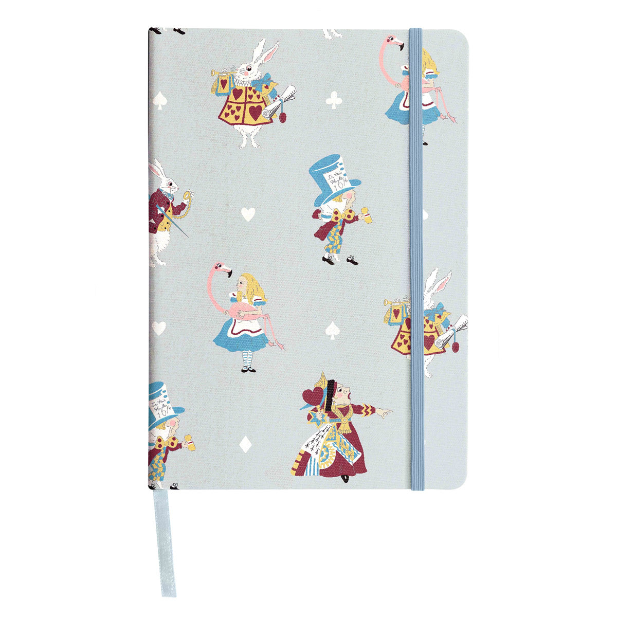 Alice in Wonderland Fabric A5 Notebook
