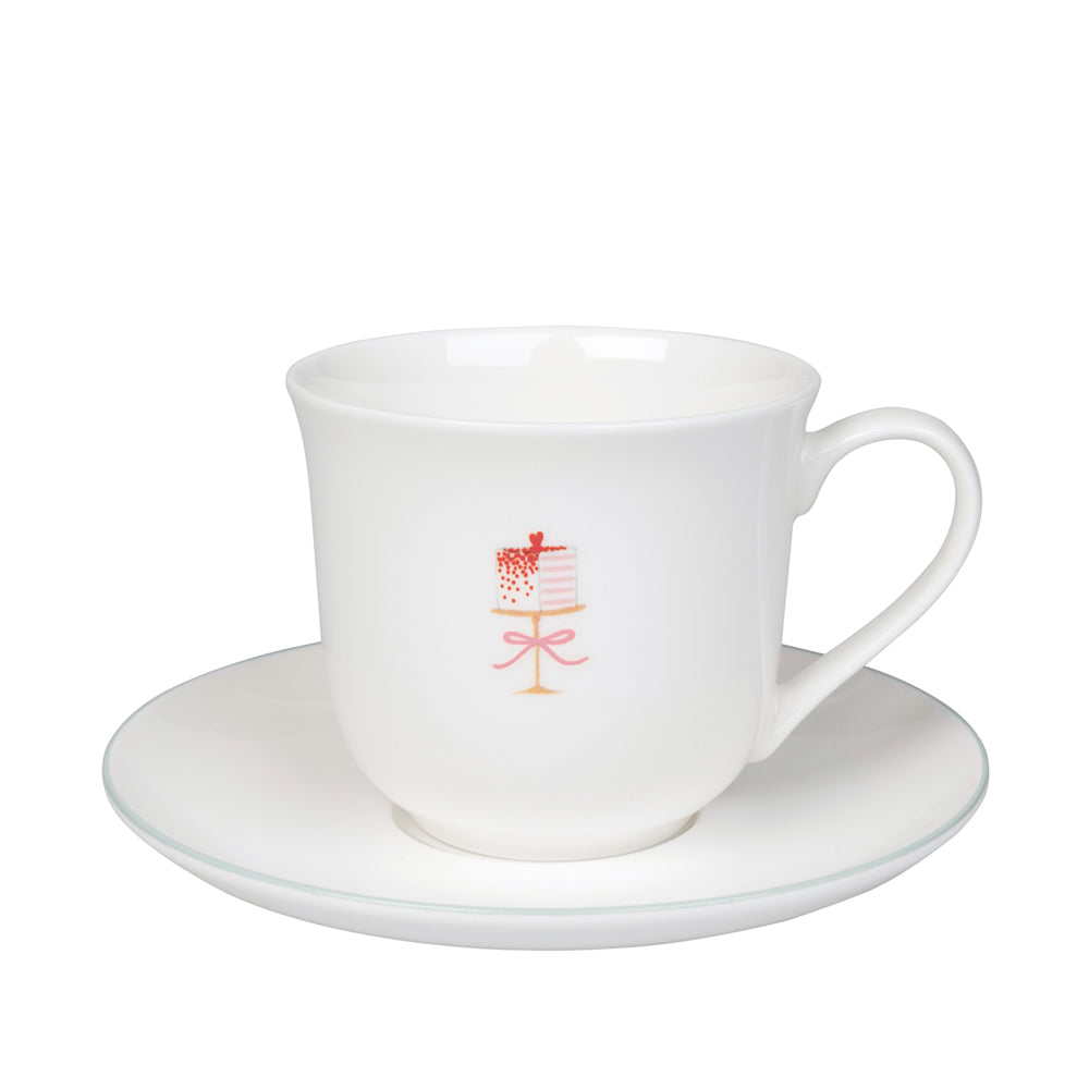 Baking Teacup & Saucer - Small