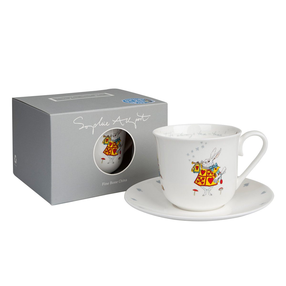 Alice in Wonderland Teacup and Saucer