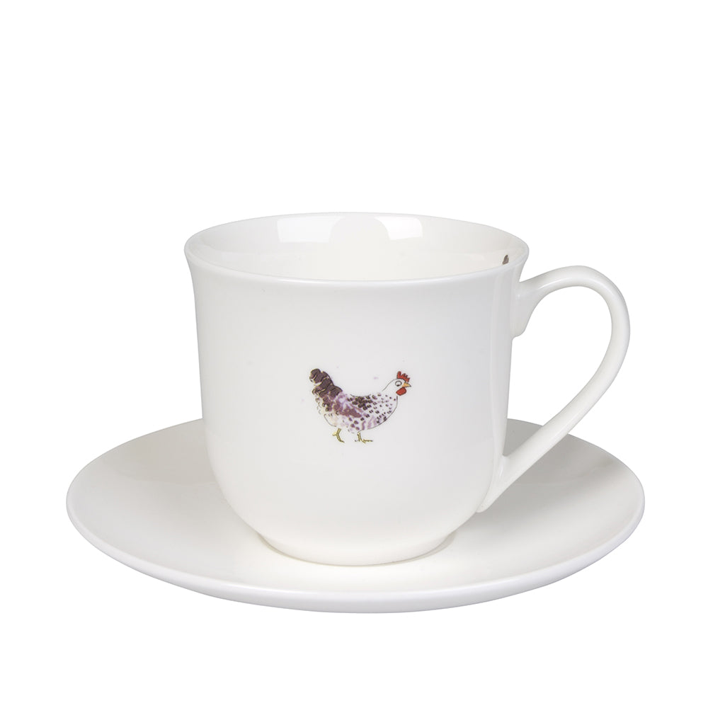 Chicken Teacup and Saucer