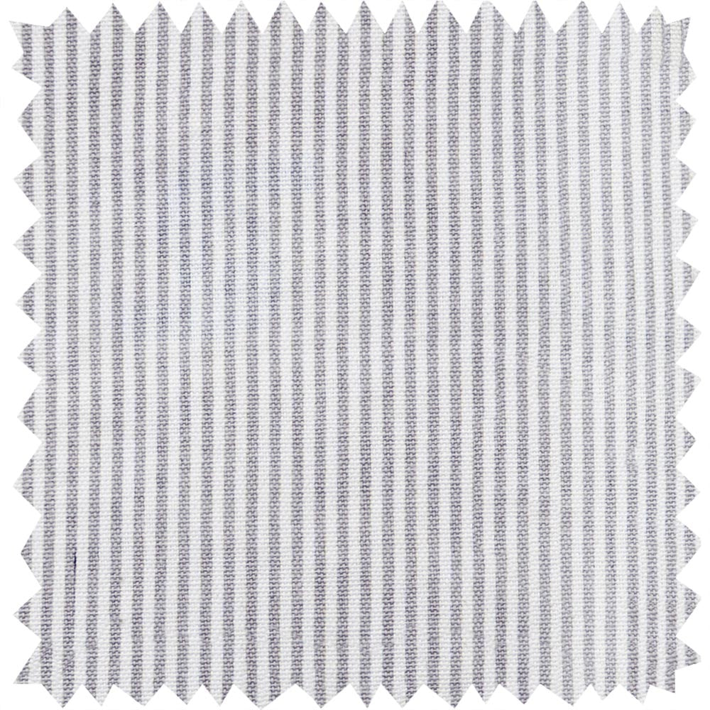 Stamford Stripe Deep Grey Fabric Sample