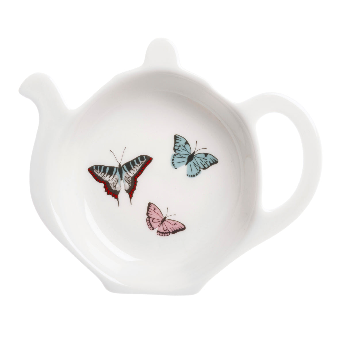 Fine bone china butterflies tea bag tidy by Sophie Allport.