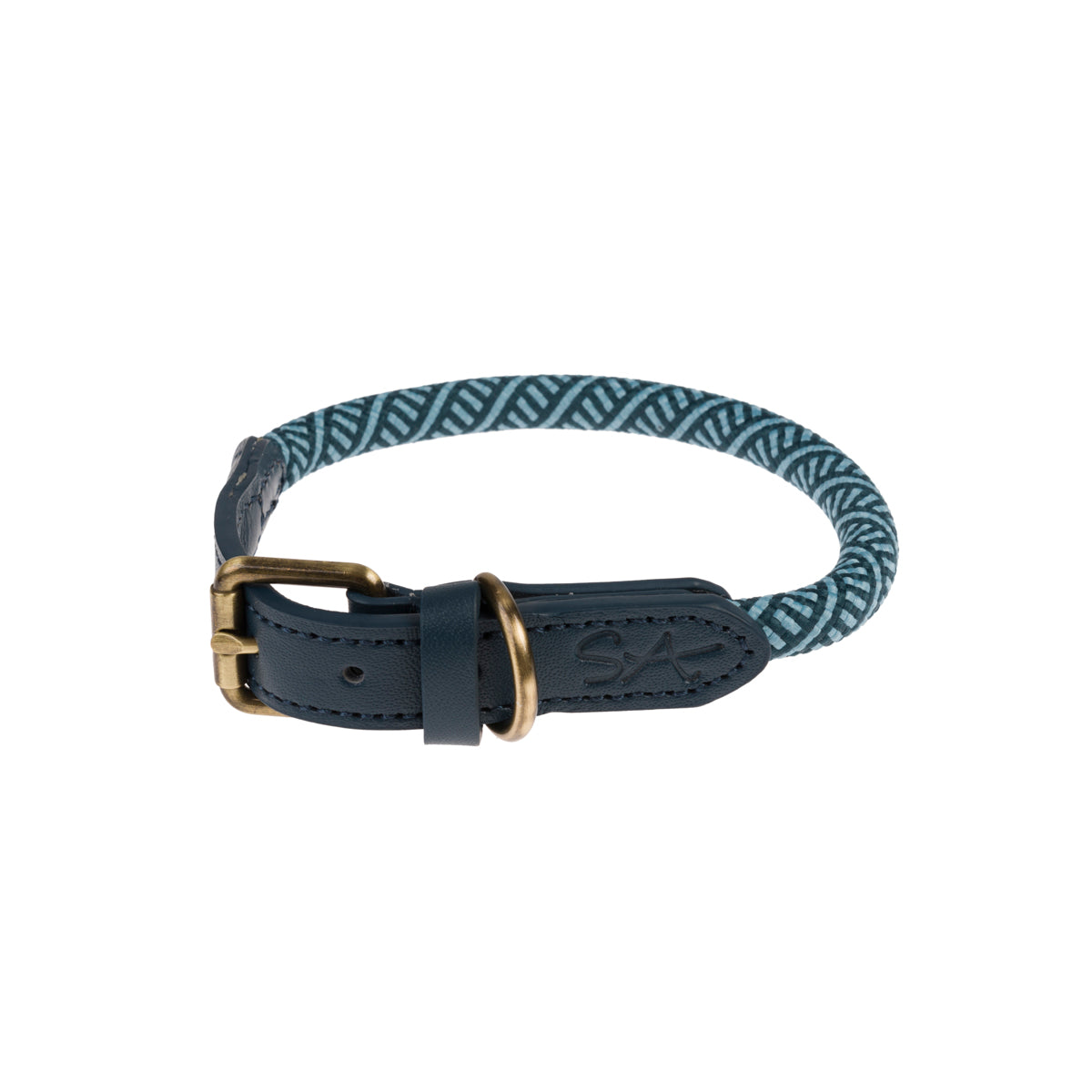 Teal Rope Collar