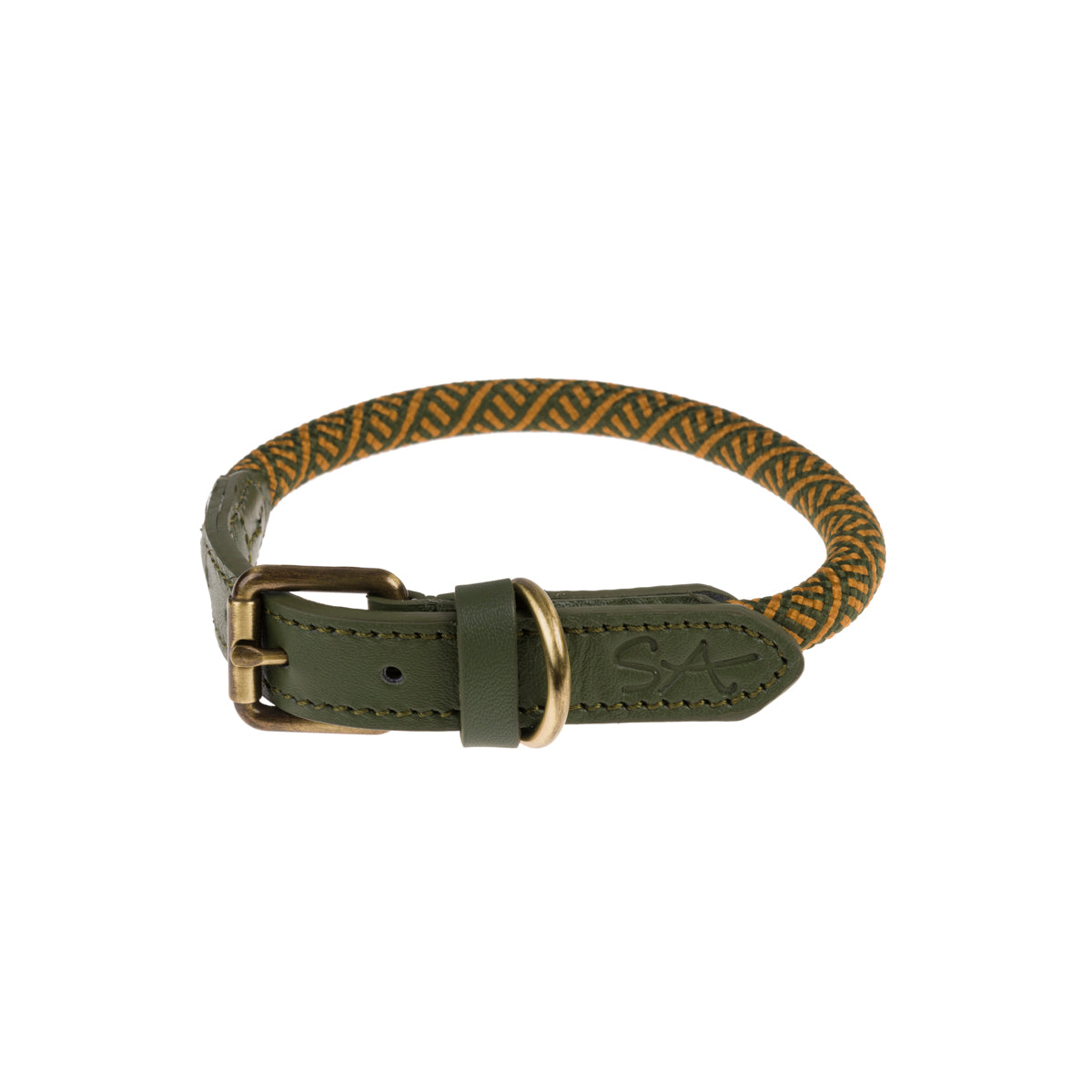 Forest Green Rope Collar