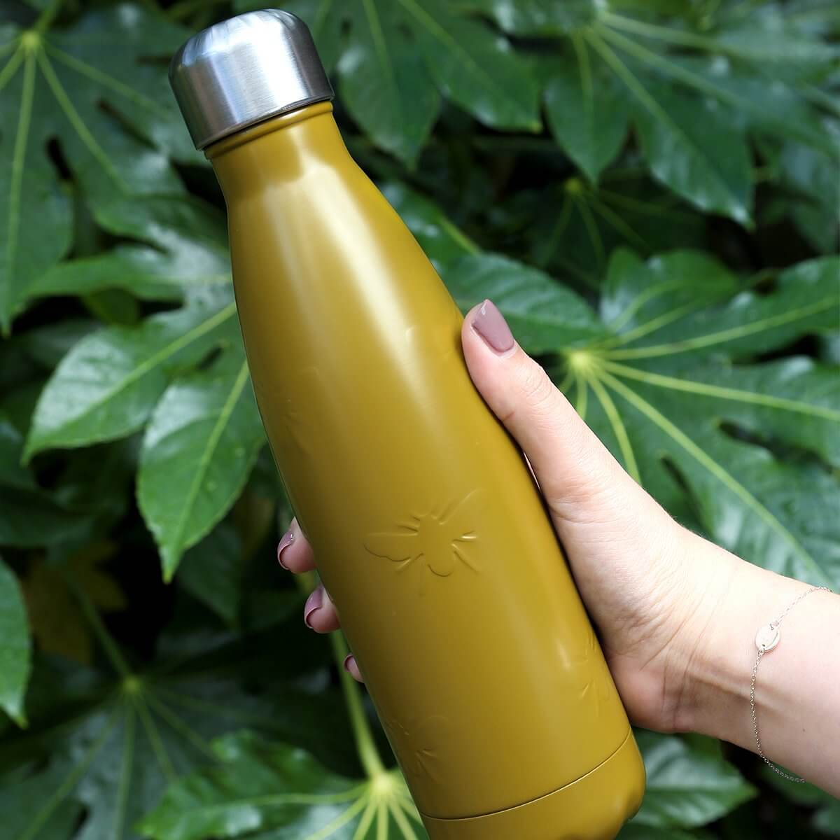 Bees thermal water bottle by Sophie Allport