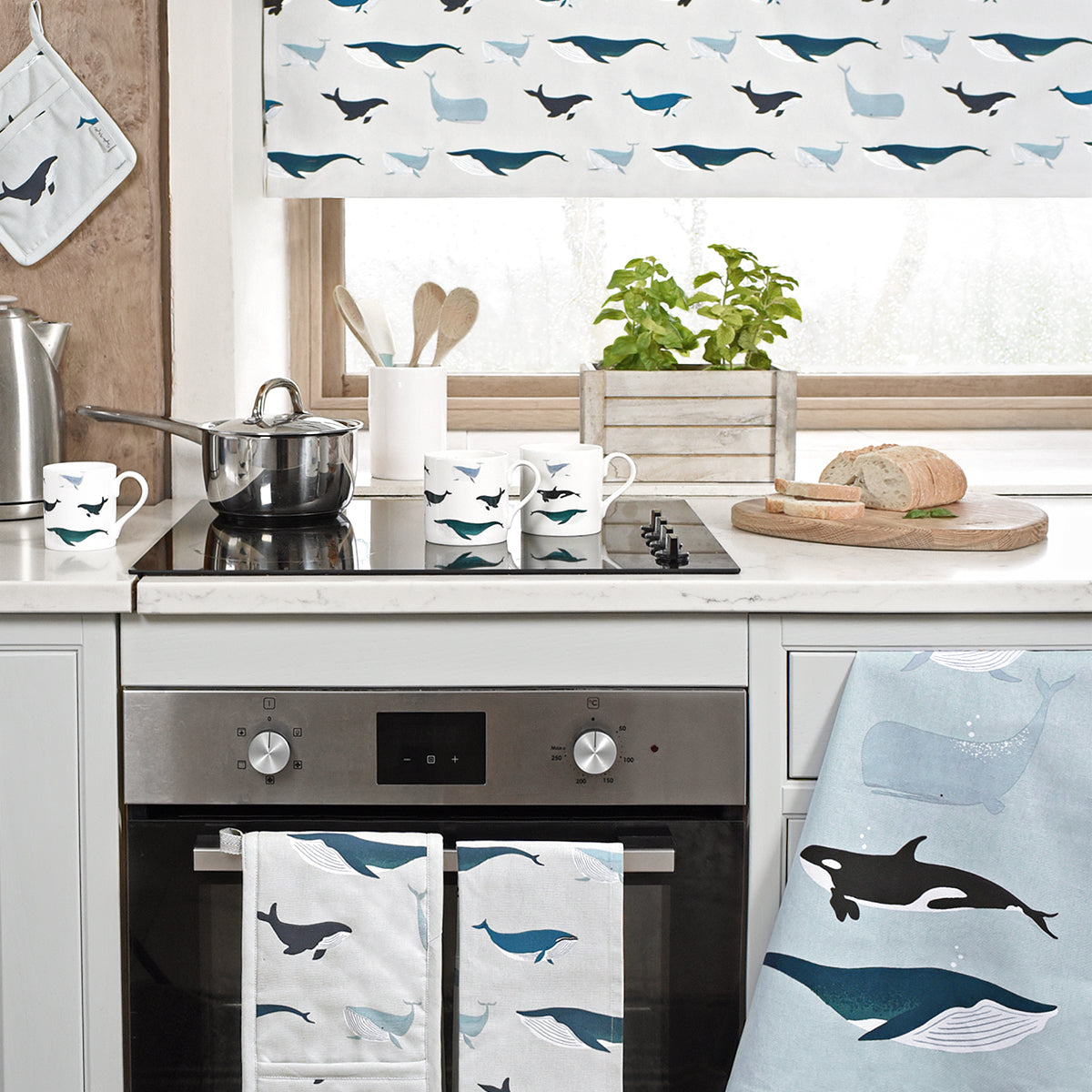 Whales Fabric by the Metre