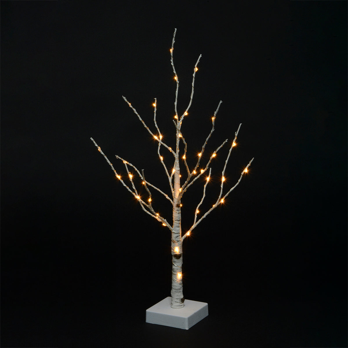 Birch Tree with LED lights and timber