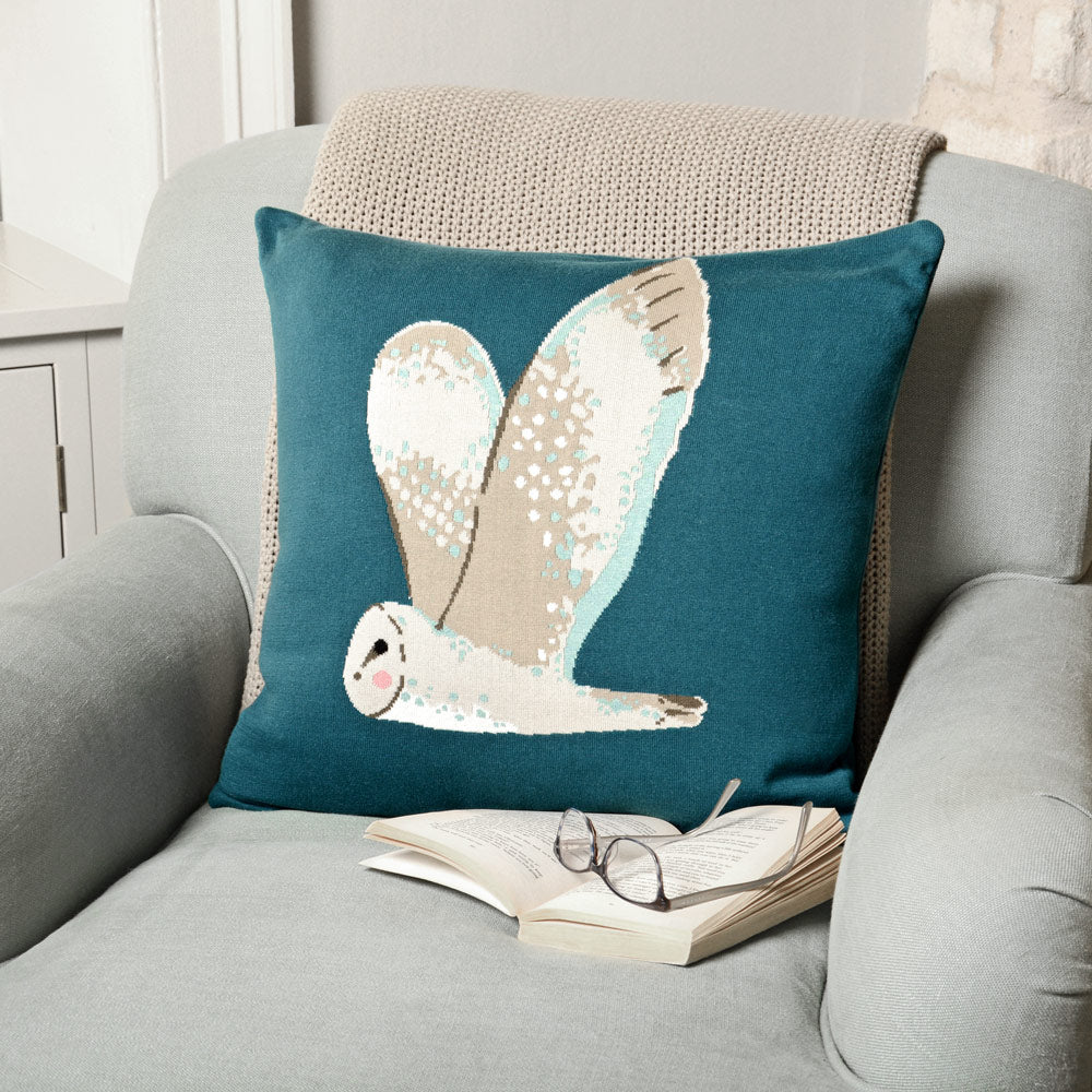 Owl Knitted Statement Cushion