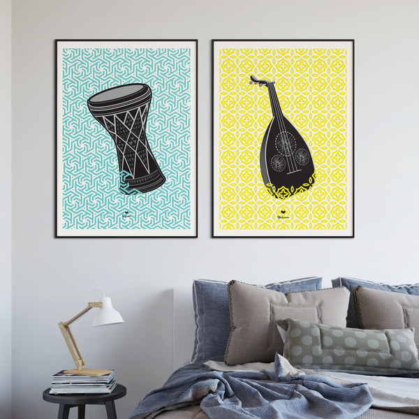 Yislamoo | Oud and Tabla Wall Art