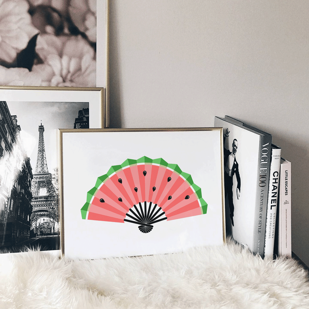 Watermelon Fan Art Print | Kitchen Wall Art | Yislamoo