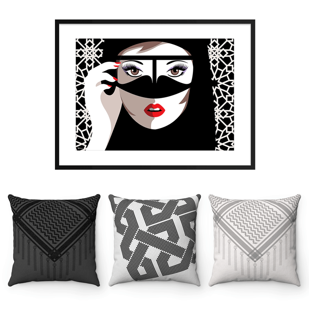 Wall Art,Home Decor,Throw Pillows, Black & White Decor, Yislamoo