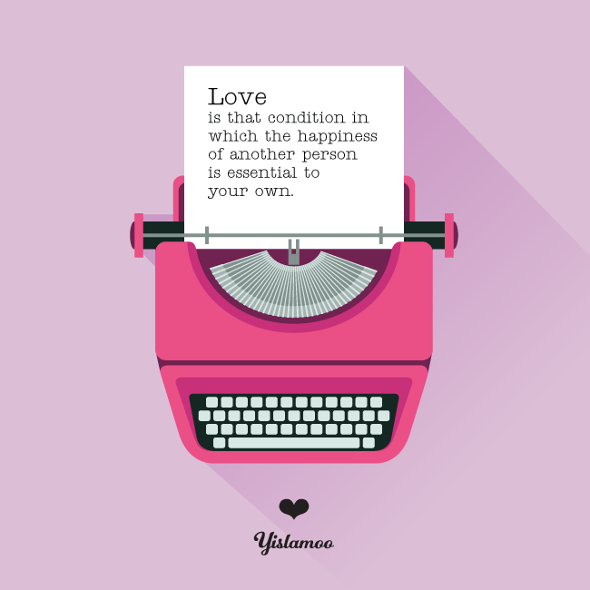 Yislamoon | Love Condition ecard for Valentine's Day Love Quotes