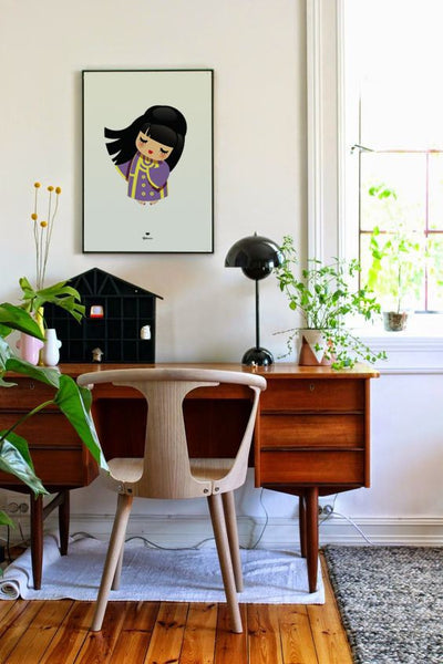 Wall Art Dancing Girl over desk