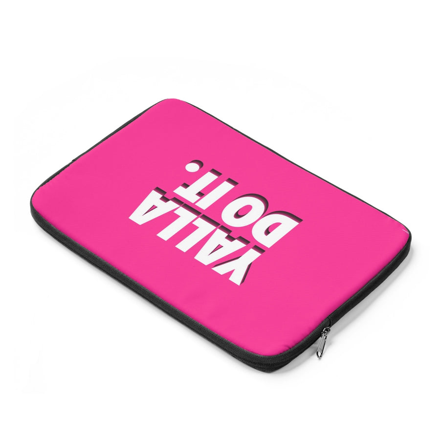 Yalla Do It in Pink Laptop Sleeve