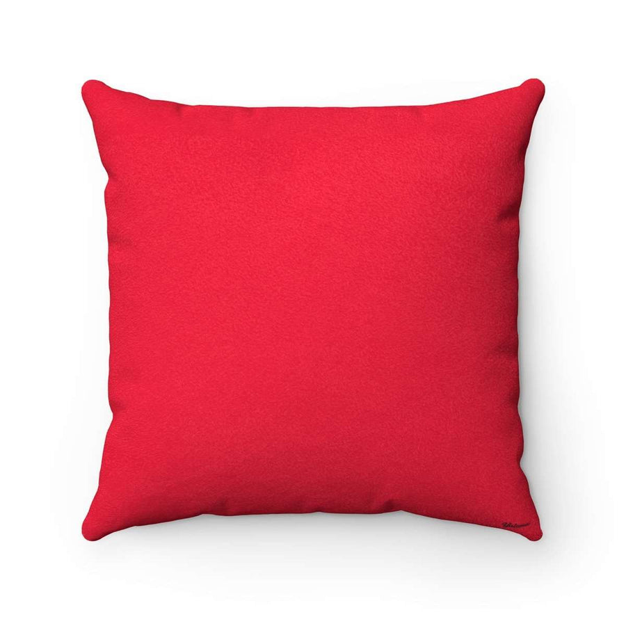 Yalla Do it in Red Faux Suede Square Pillow Case