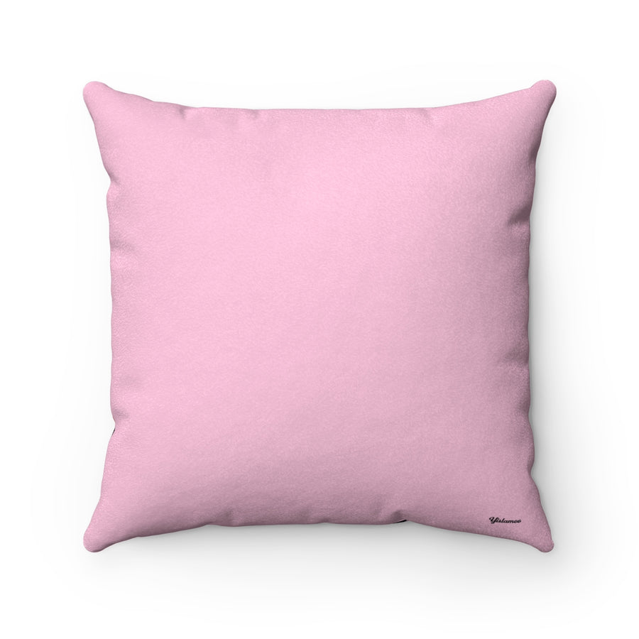 Dancing Girl Faux Suede Square Pillow Case
