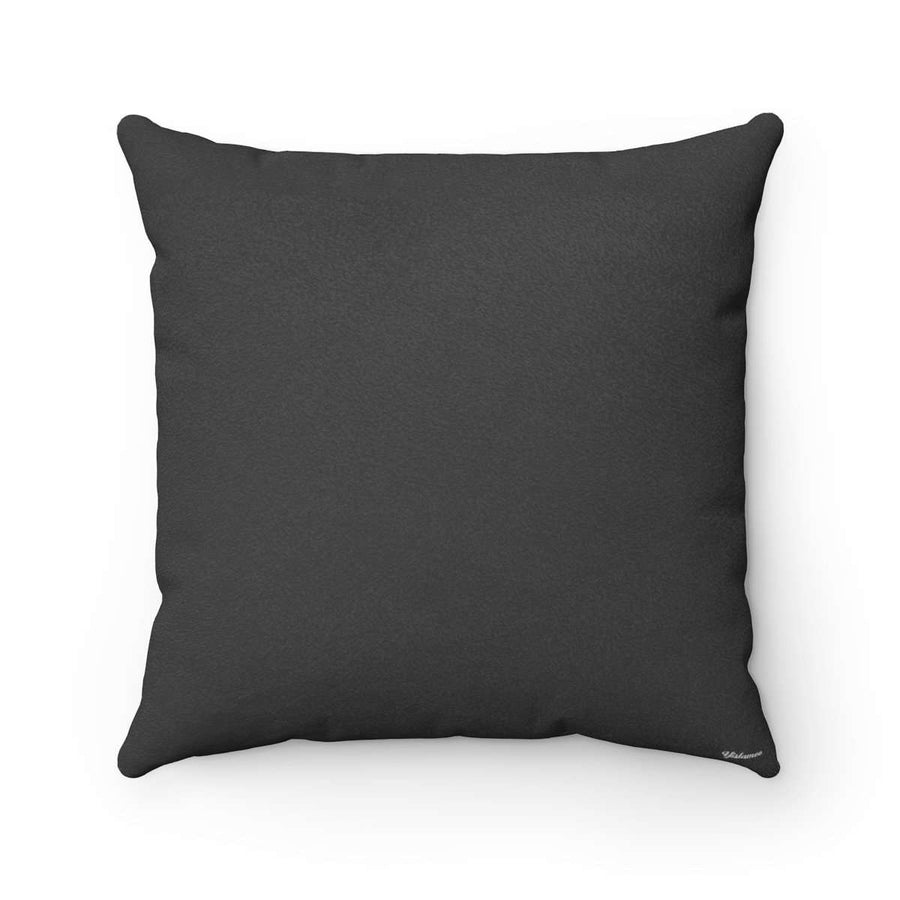 Bedouin Scarf in Black Faux Suede Square Pillow Case