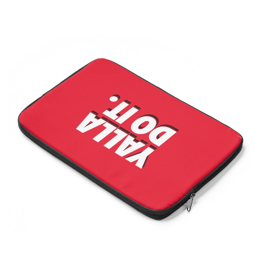 Yalla Do It in Red Laptop Sleeve