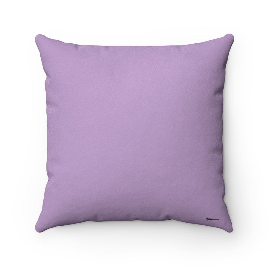 Oud in Crocus Petal Faux Suede Square Pillow Case