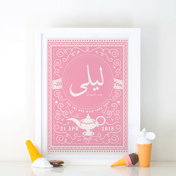 Pink Nursery Wall Decor,Baby Name Frame,Nursery Wall Decor Girl,Baby Present Ideas,Yislamoo