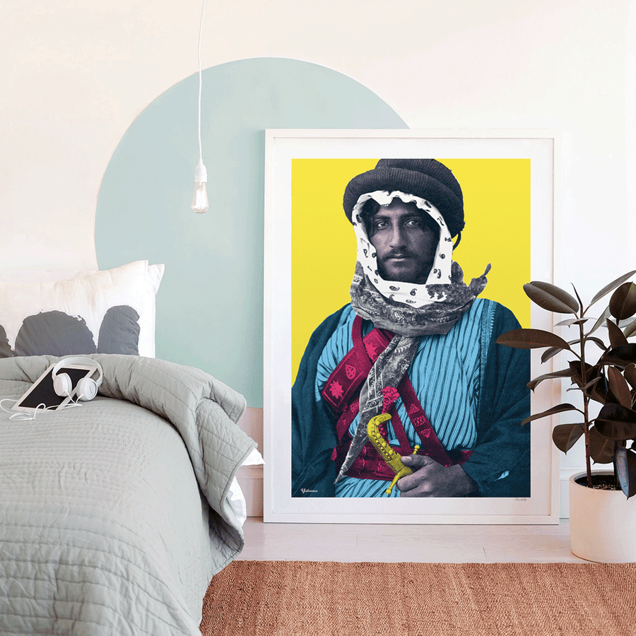 Pop Art Prints,Arabic Pop Art,The Bedouin,Wall Art,Yislamoo