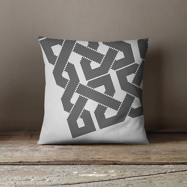 Black & White Pillow Case in Faux Suede,Yislamoo