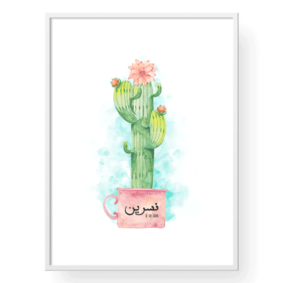 Cactus Baby Shower, Cactus Baby Girl Nursery, Baby Wall Art, Personalized Name Frames