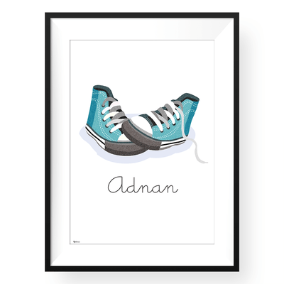 Nursery Wall Decor, Nursery Wall Decor | Customized Converse Wall Art Print | Yislamoo