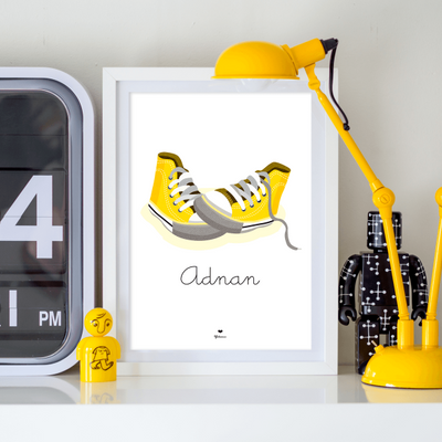 Nursery Wall Decor | Customized Converse Wall Art Print | Yislamoo