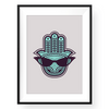 Hamsa Print,Cool wall art,Eye of Fatima,Art Print,Yislamoo