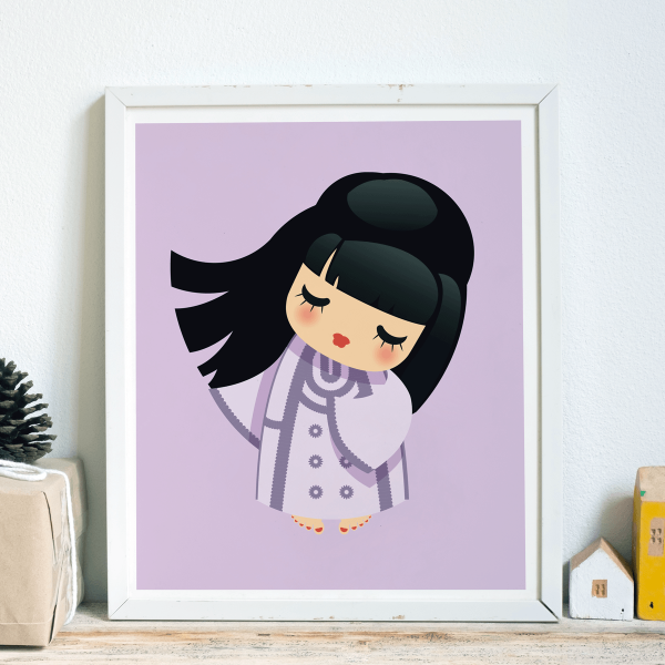 Dancing Girl Wall Art Print