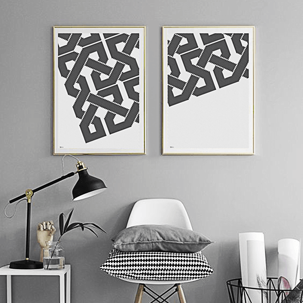 Geometric Canvas Art,Arabian Art,Islamic Pattern Prints, Yislamoo