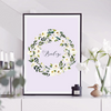 Family Name Floral Wreath Framed Print