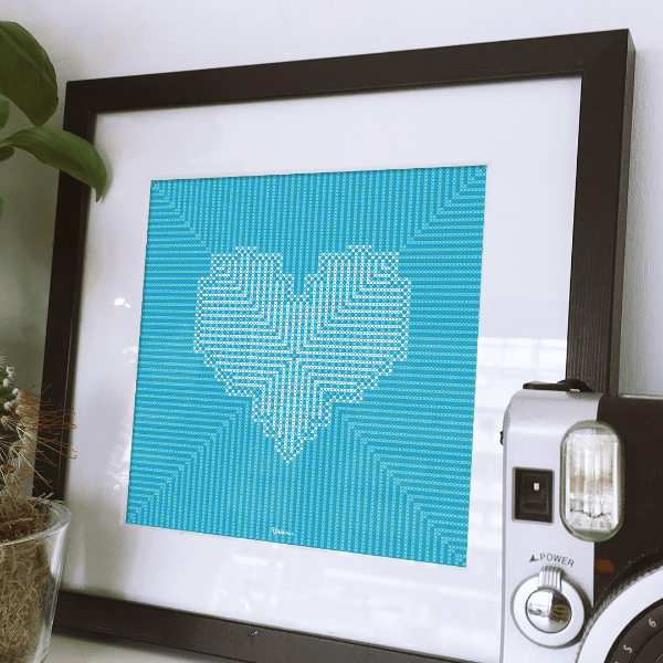 Cross-Stitched Heart