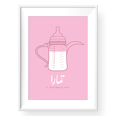 baby wall art,Pink Nursery Wall Art,Personalized Baby Gifts,Yislamoo