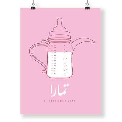 nursery art girl,arabic Nursery Art,Arabic Baby Name Art,Yislamoo