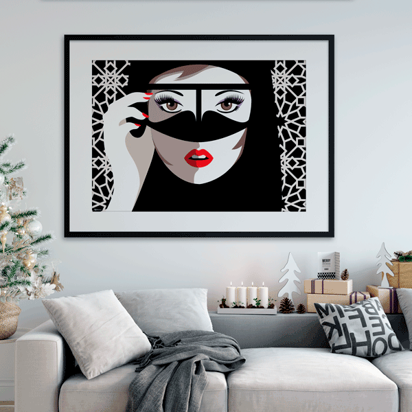 islamic wall art frames,Wall Art in UAE,Hello Gorgeous, Arabian Style Art Prints,Fashion Wall Art,
