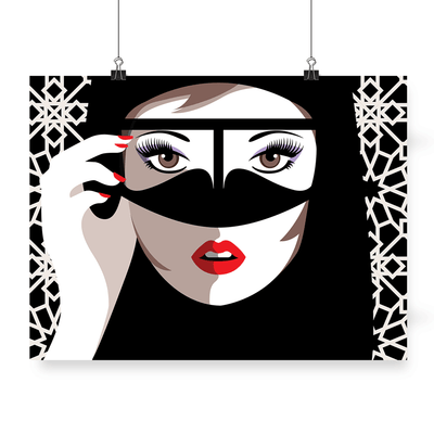 Posters in Dubai,Arabic Posters,Fashion Posters,Hello Gorgeous,Poster,Yislmaoo,Fine art Print