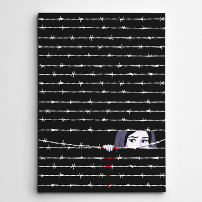 Hide & Seek in Gaza Art Print