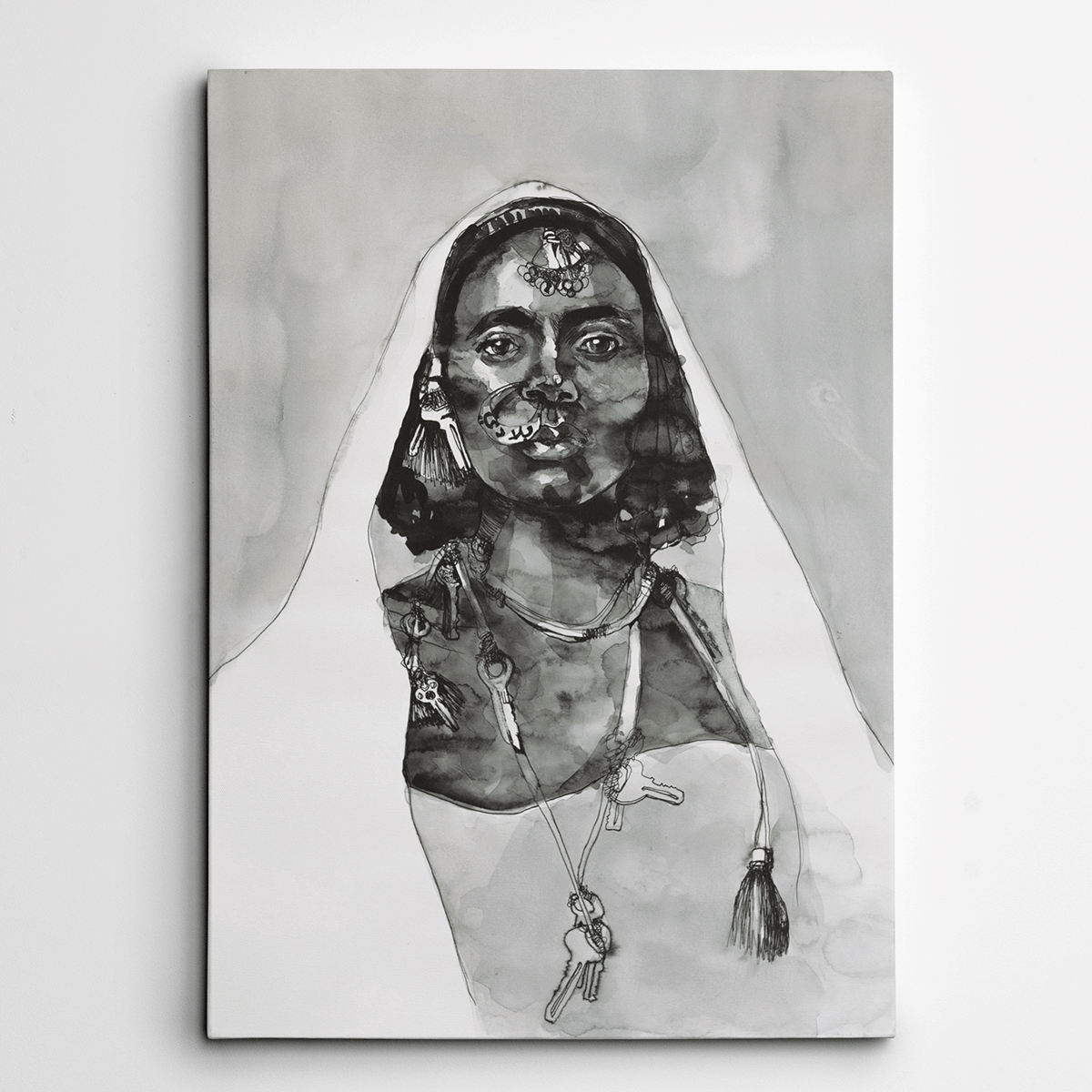 Canvas Art,Canvas Wall Art,Canvas Artwork,Black and White Canvas Art,Yislamoo