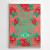 Hamsa Canvas Art,Hamsa Canvas wall art,Yoga art on canvas,Yislamoo