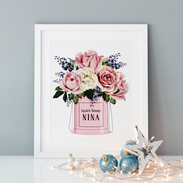 Baby Gifts for Girls | Mademoiselle Bouquet Name Frame | Yislamoo