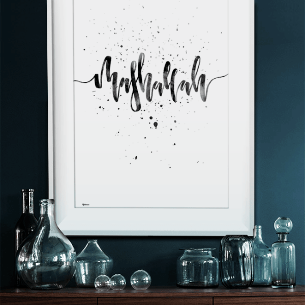Mashallah Wall Art,Modern Islamic Wall Art,Calligraphy Wall Art