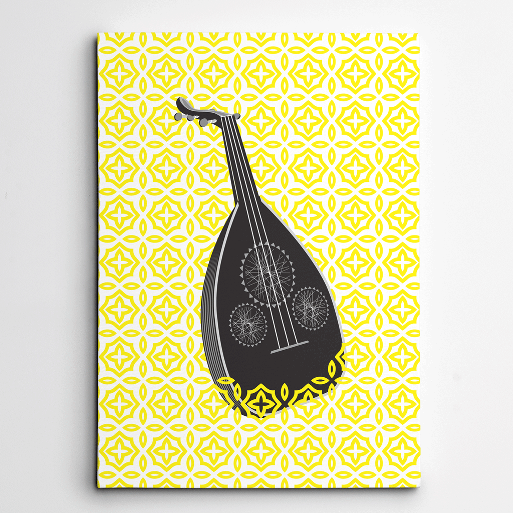 Music Decor,Music Canvas Art,Music themed Canvas,Oud,Yislamoo