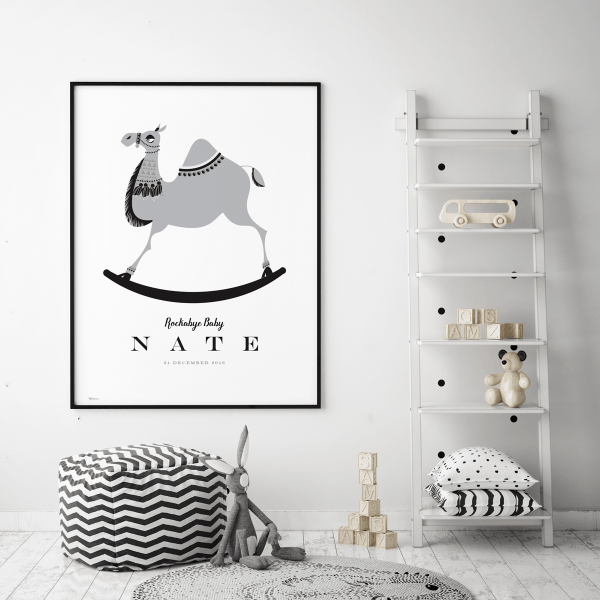 Rockabye Baby Personalized Art Print