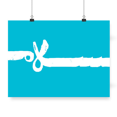 Blue Typography Poster,Peace Poster,Blue,Yislamoo