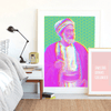The Sheikh Art Print, Modern Islamic Art, Wall Art for Living Room, Bedroom Wall Pictures