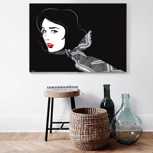 Black/Red Shemagh,Unique Art Prints
