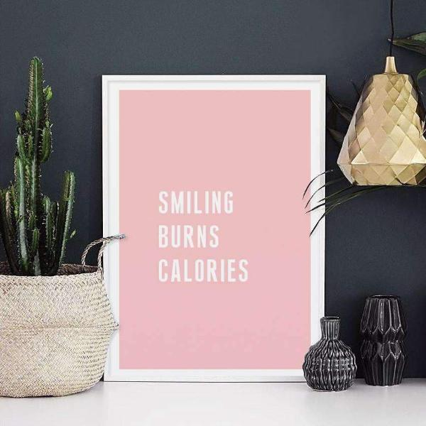 Smiling Burns Calories Poster