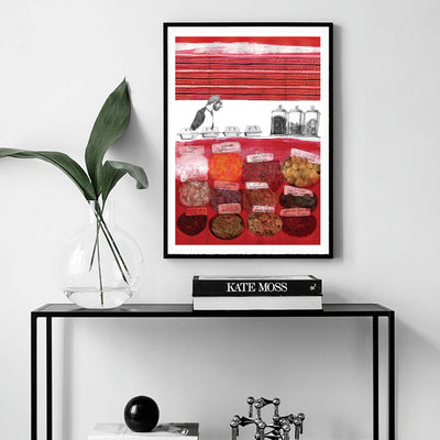 Vintage Travel Posters | The Spice Shop Art Print | Yislamoo